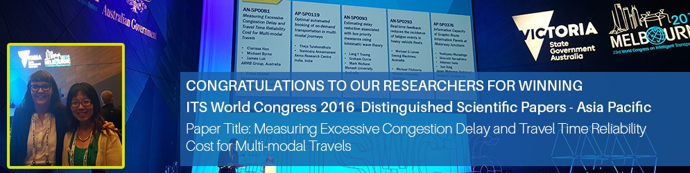 ITS World Congress 2016  Distinguished Scientific Papers - Asia Pacific